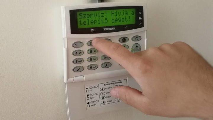 riasztó rendszer szerelés biztonságtechnika
